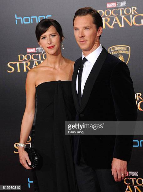 Actor Benedict Cumberbatch and wife theater director Sophie Hunter attend the premiere of Disney and Marvel Studio's' Doctor Strange' at the El...