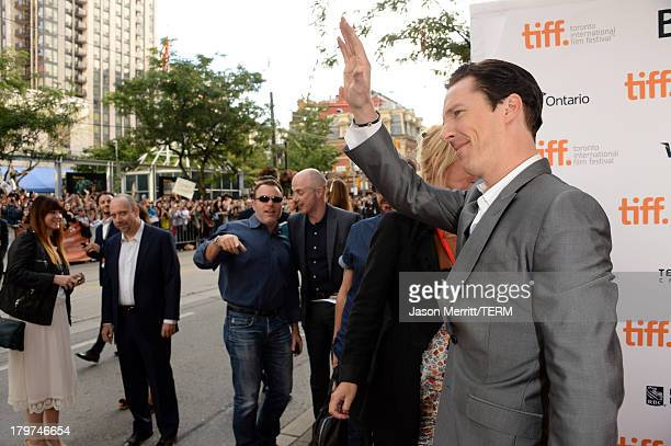 Actor Benedict Cumberbatch arrives at the 12 Years A Slave premiere during the 2013 Toronto International Film Festival at the Princess of Wales...