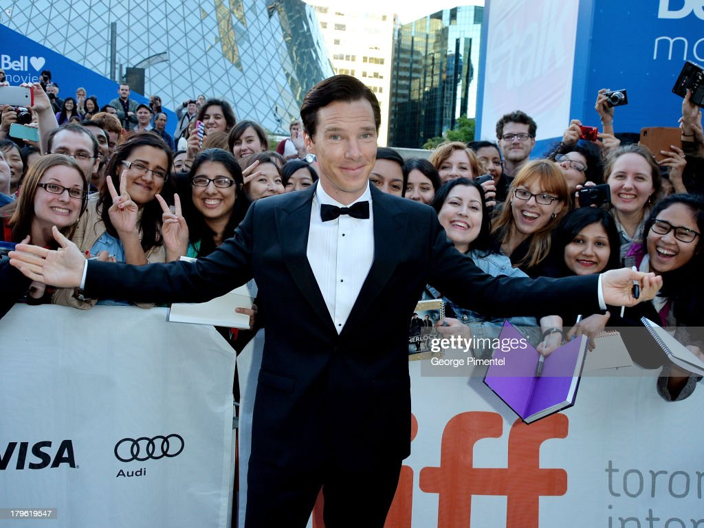 Actor Benedict Cumberbatch arrives at 'The Fifth Estate' premiere during the 2013 Toronto International Film Festival on September 5, 2013 in Toronto, Canada.