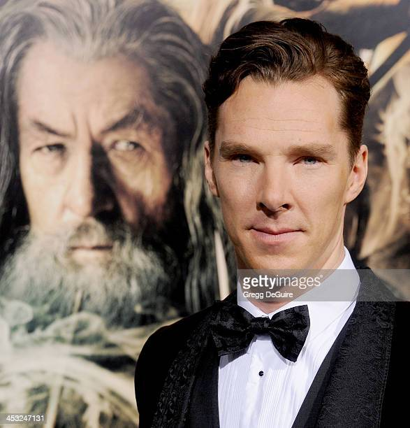 """Actor Benedict Cumberbatch arrives at the Los Angeles premiere of """"The Hobbit: The Desolation Of Smaug"""" at TCL Chinese Theatre on December 2, 2013 in..."""