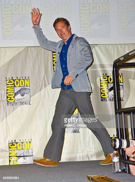 Actor Benedict Cumberbatch at DreamWorks Animation Presentation of 'The Penguins of Madagascar' ComicCon International 2014 held at the San Diego...