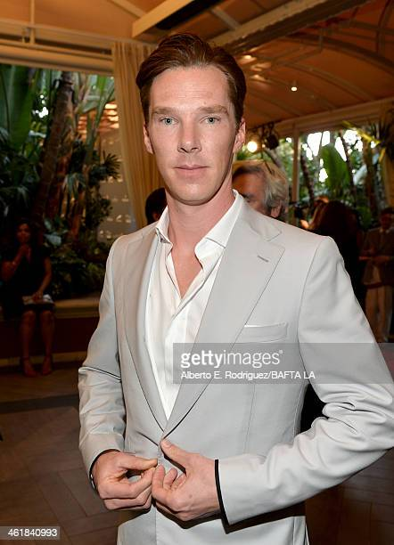 Actor Benedict Cumberbatch attends the BAFTA LA 2014 Awards Season Tea Party at the Four Seasons Hotel Los Angeles at Beverly Hills on January 11...