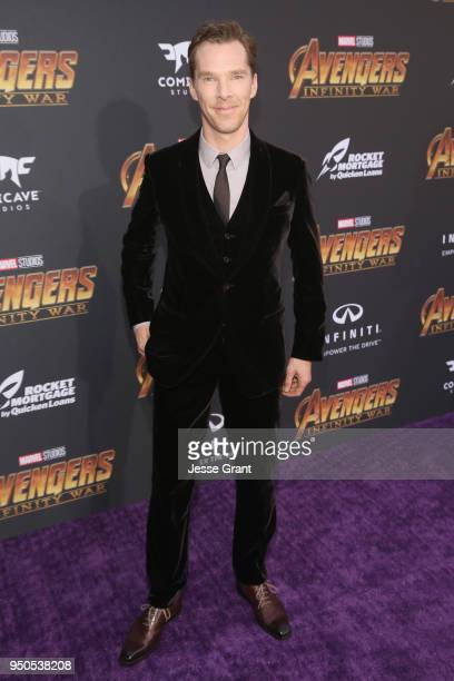 Actor Benedict Cumberbatch attends the Los Angeles Global Premiere for Marvel Studios' Avengers Infinity War on April 23 2018 in Hollywood California