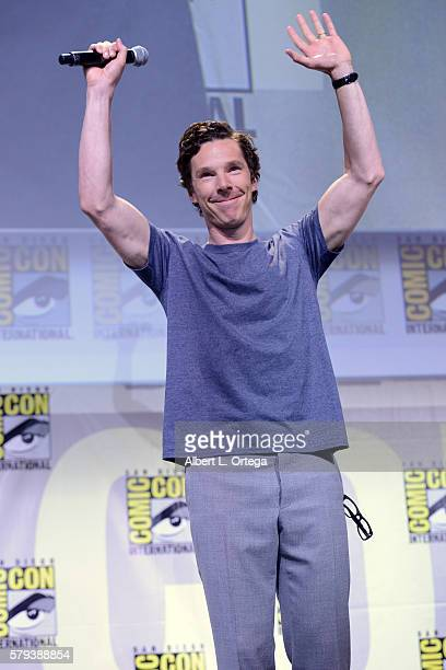Actor Benedict Cumberbatch attends the Marvel Studios presentation during ComicCon International 2016 at San Diego Convention Center on July 23 2016...