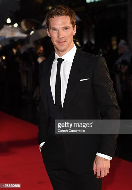 "Actor Benedict Cumberbatch attends the opening night gala screening of ""The Imitation Game"" during the 58th BFI London Film Festival at Odeon..."