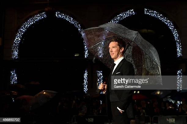 Actor Benedict Cumberbatch attends the opening night gala screening of The Imitation Game during the 58th BFI London Film Festival at Odeon Leicester...