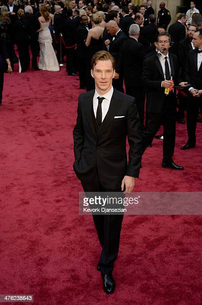 Actor Benedict Cumberbatch attends the Oscars held at Hollywood Highland Center on March 2 2014 in Hollywood California