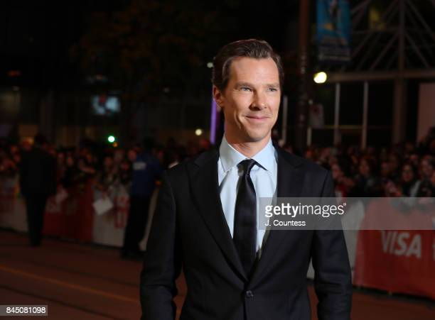 "Actor Benedict Cumberbatch attends the premiere of ""The Current War"" during the 2017 Toronto International Film Festival at Princess of Wales Theatre..."