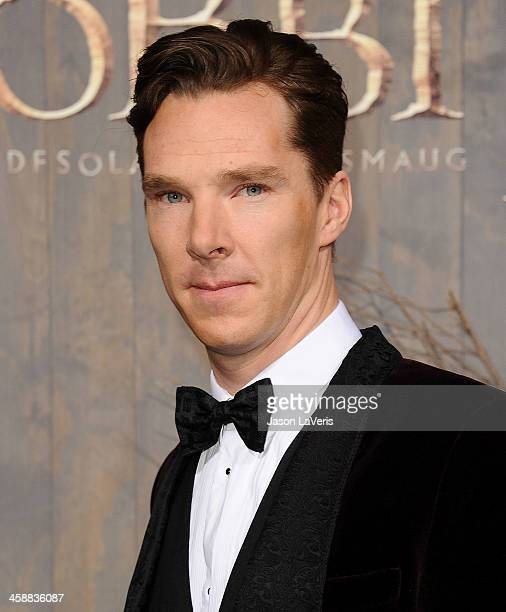 Actor Benedict Cumberbatch attends the premiere of 'The Hobbit The Desolation Of Smaug' at TCL Chinese Theatre on December 2 2013 in Hollywood...