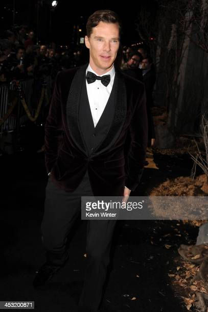 Actor Benedict Cumberbatch attends the premiere of Warner Bros' The Hobbit The Desolation of Smaug at TCL Chinese Theatre on December 2 2013 in...