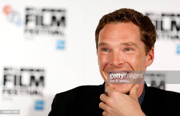 Actor Benedict Cumberbatch attends the press conference for 'The Imitation Game' during the 58th BFI London Film Festival at Corinthia Hotel London...