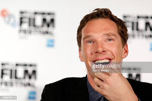 "Actor Benedict Cumberbatch attends the press conference for ""The Imitation Game"" during the 58th BFI London Film Festival at Corinthia Hotel London..."