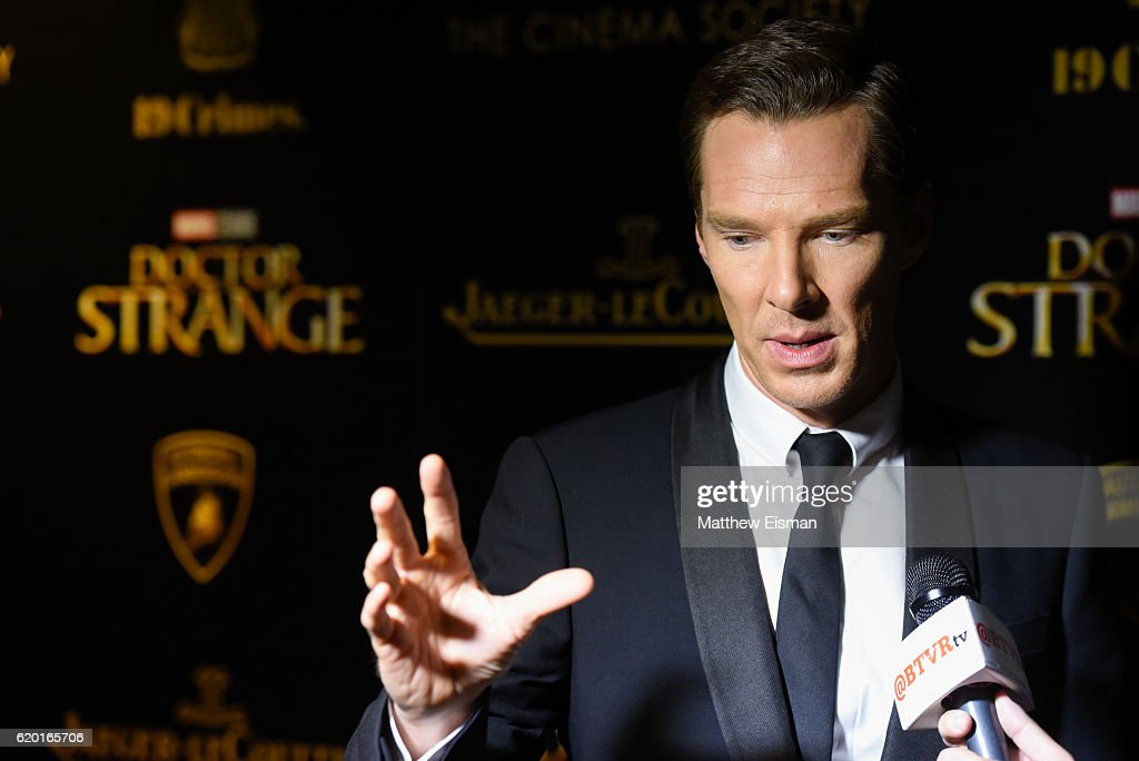 "Lamborghini With The Cinema Society, Jaeger-LeCoultre & 19 Crimes Wines Host A Screening Of Marvel Studios' ""Doctor Strange"" - Arrivals : News Photo"