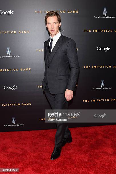 Actor Benedict Cumberbatch attends the The Imitation Game New York Premiere at Ziegfeld Theater on November 17 2014 in New York City