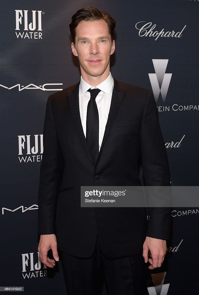 Actor Benedict Cumberbatch attends The Weinstein Company's Academy Awards Nominees Dinner in partnership with Chopard, DeLeon Tequila, FIJI Water and MAC Cosmetics on February 21, 2015 in Los Angeles, California.