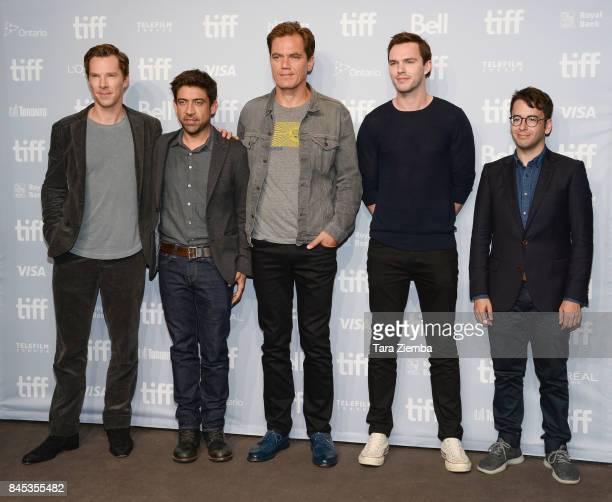 Actor Benedict Cumberbatch director Alfonso GomezRejon actors Michael Shannon Nicholas Hoult and executive producer Michael Mitnick attend 'The...