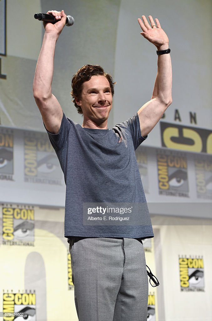 """Actor Benedict Cumberbatch from Marvel Studios' 'Doctor Strange"""" attends the San Diego Comic-Con International 2016 Marvel Panel in Hall H on July 23, 2016 in San Diego, California. ©Marvel Studios 2016"""