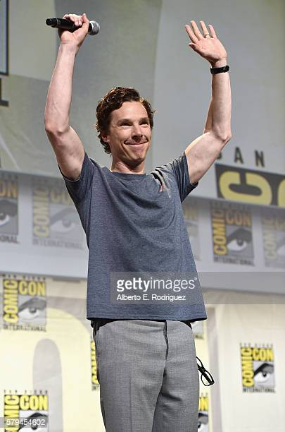 """Actor Benedict Cumberbatch from Marvel Studios' 'Doctor Strange"""" attends the San Diego ComicCon International 2016 Marvel Panel in Hall H on July 23..."""