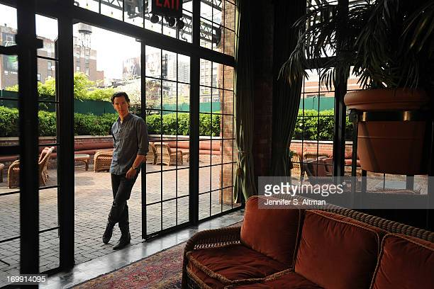 Actor Benedict Cumberbatch is photographed for Los Angeles Times on May 13 2013 in New York City PUBLISHED IMAGE