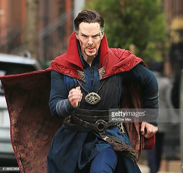 Actor Benedict Cumberbatch is seen on the set of 'Doctor Strange' on April 2 2016 in New York City