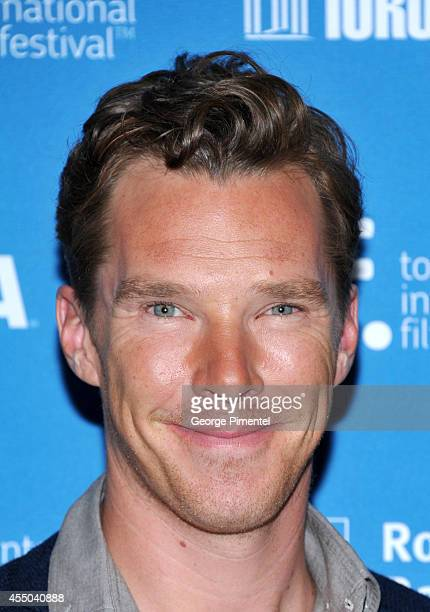 Actor Benedict Cumberbatch speaks onstage at 'The Imitation Game' Press Conference during the 2014 Toronto International Film Festival at TIFF Bell...