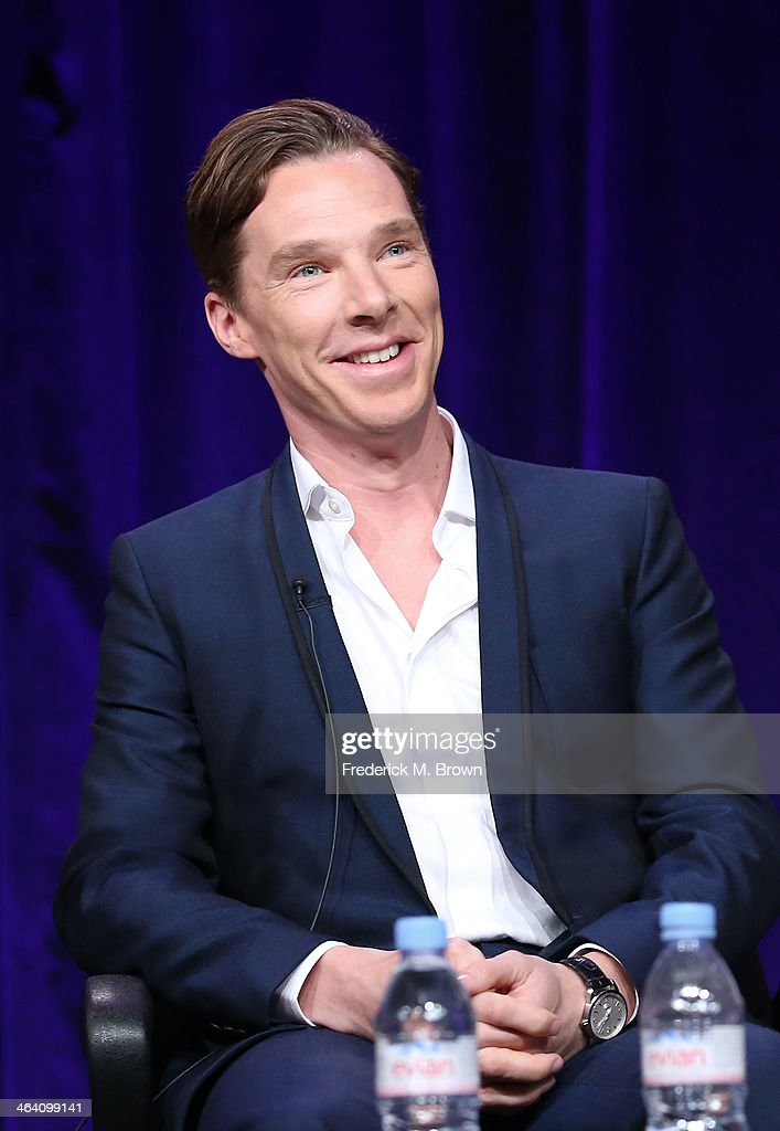 Actor Benedict Cumberbatch speaks onstage during the 'Masterpiece/Sherlock, Season 3' panel discussion at the PBS portion of the 2014 Winter Television Critics Association tour at Langham Hotel on January 20, 2014 in Pasadena, California.