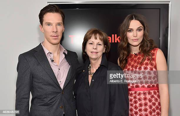 Actor Benedict Cumberbatch TIFF Executive Director Michele Maheux and actress Keira Knightley attend The New York Times' TimesTalk TIFF In Los...