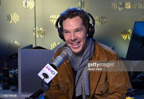 Actor Benedict Cumberbatch visits Morning Mash Up at SiriusXM Studios on October 22, 2019 in New York City.
