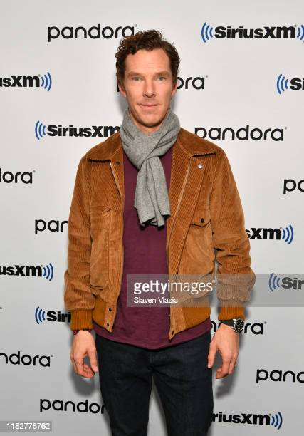 Actor Benedict Cumberbatch visits SiriusXM Studios on October 22, 2019 in New York City.