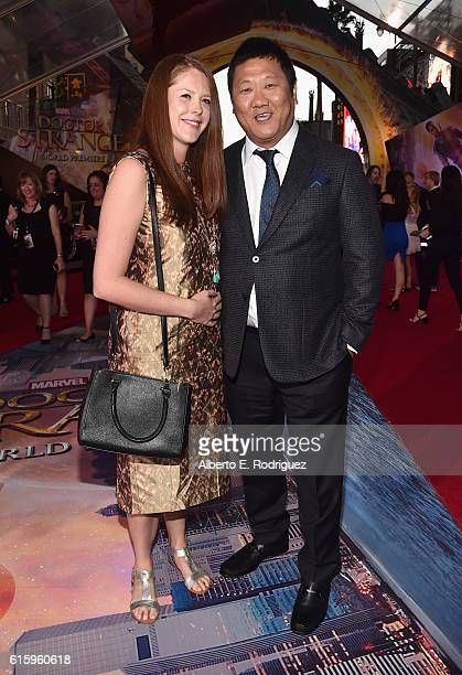 """Actor Benedict Wong and guest attend The Los Angeles World Premiere of Marvel Studios' Doctor Strange"""" in Hollywood CA on Oct 20th 2016"""