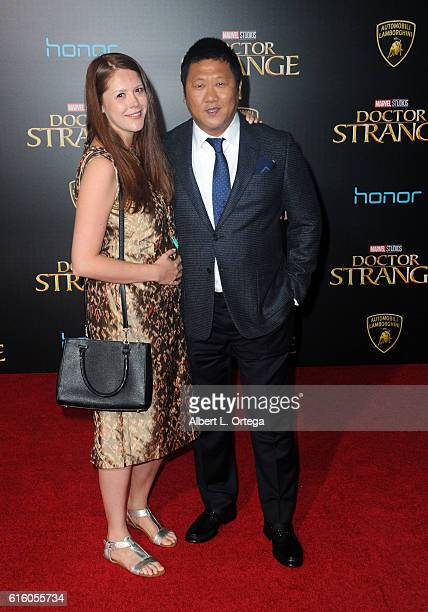 Actor Benedict Wong and wife arrive for the Premiere Of Disney And Marvel Studios' Doctor Strange held at the El Capitan Theatre on October 20 2016...