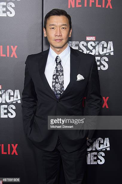Actor Benedict Wong attends the 'Jessica Jones' series premiere at Regal EWalk on November 17 2015 in New York City