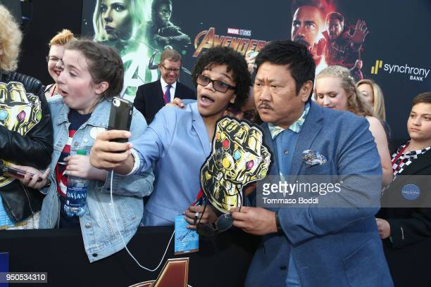 Actor Benedict Wong attends the Los Angeles Global Premiere for Marvel Studios' Avengers Infinity War on April 23 2018 in Hollywood California