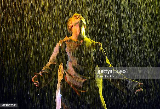 Actor Benedikt Negro performs during a rehearsal of Cirque du Soleil's One Night For ONE DROP at the Mandalay Bay Resort and Casino on March 20 2014...