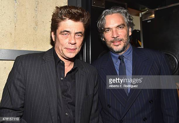 Actor Benicio Del Toro and director Andrea Di Stefano attend the after party for the premiere of RADiUS and The Weinstein Company's Escobar Paradise...