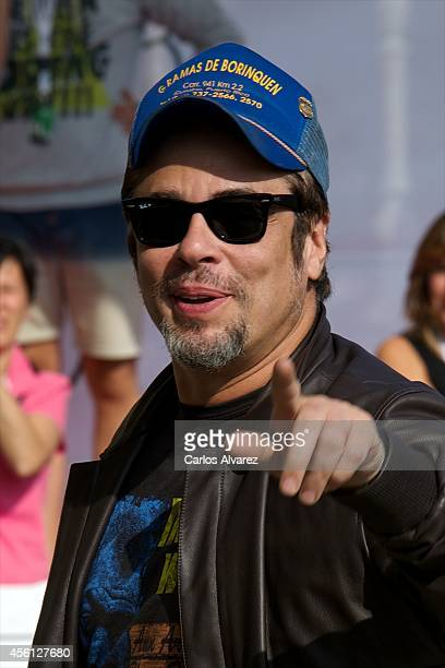 Actor Benicio del Toro arrives at the Maria Cristina Hotel during the 62nd San Sebastian International Film Festival on September 26 2014 in San...