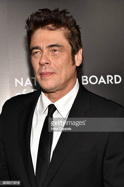 Actor Benicio del Toro attends 2015 National Board of Review Gala at Cipriani 42nd Street on January 5 2016 in New York City