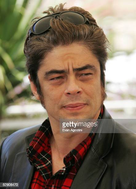 Actor Benicio Del Toro attends a photocall promoting the film Sin City at the Palais during the 58th International Cannes Film Festival May 18 2005...