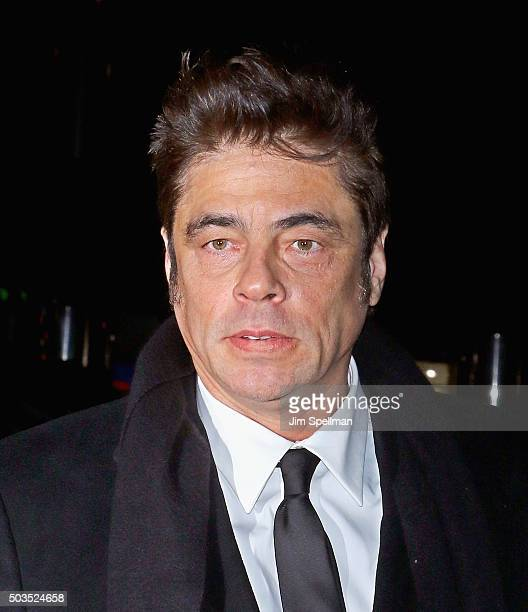 Actor Benicio del Toro attends the 2015 National Board Of Review Gala at Cipriani 42nd Street on January 5 2016 in New York City
