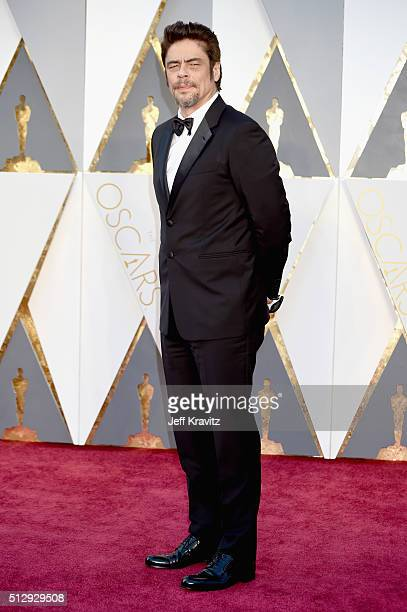 Actor Benicio Del Toro attends the 88th Annual Academy Awards at Hollywood Highland Center on February 28 2016 in Hollywood California