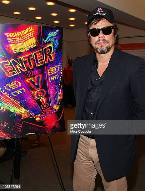"""Actor Benicio del Toro attends the Film Society of Lincoln Center screening of """"Enter The Void"""" at the Walter Reade Theater on August 11, 2010 in New..."""
