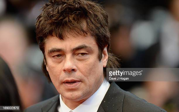 Actor Benicio Del Toro attends the 'Jimmy P ' Premiere during the 66th Annual Cannes Film Festival at the Palais des Festivals on May 18 2013 in...