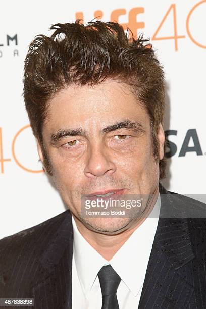 Actor Benicio Del Toro attends the 'Sicario' premiere during the 2015 Toronto International Film Festival at Princess of Wales Theatre on September...