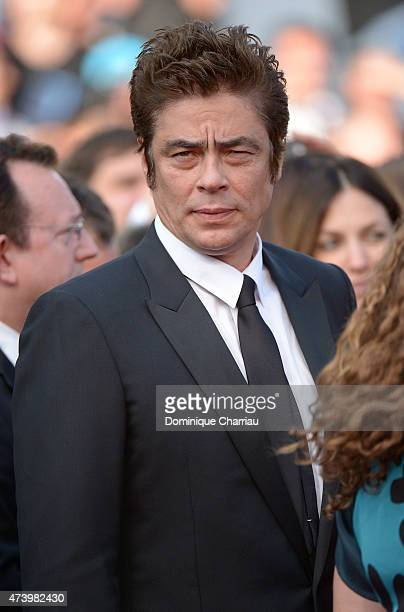 Actor Benicio Del Toro attends the 'Sicario' Premiere during the 68th annual Cannes Film Festival on May 19 2015 in Cannes France