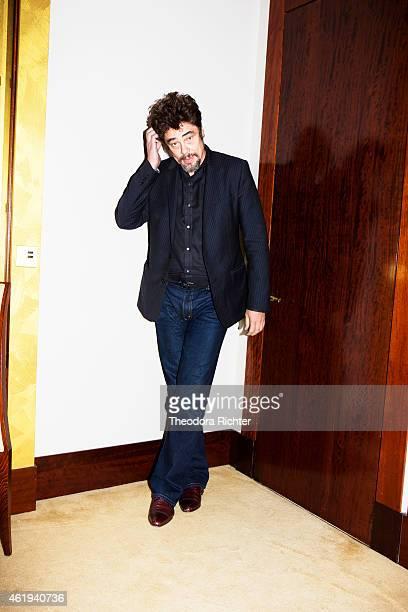 Actor Benicio Del Toro is photographed for Grazia on October 21 2014 in Paris France