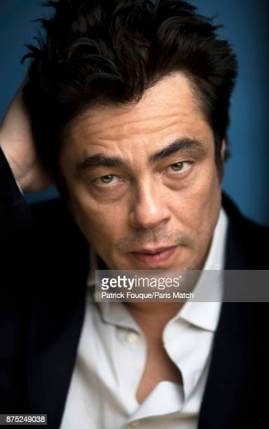 Actor Benicio del Toro is photographed for Paris Match on July 7 2013 in Paris France