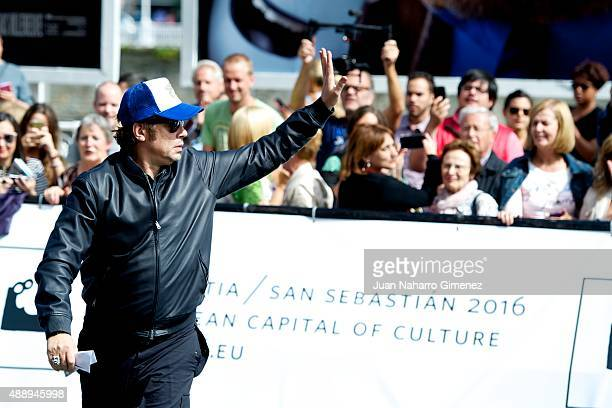 Actor Benicio del Toro is seen arriving at the Maria Cristina Hotel during the 63rd San Sebastian International Film Festival on September 18 2015 in...