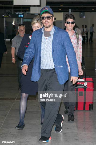 Actor Benicio del Toro is seen arriving for the 71st annual Cannes Film Festival at Nice Airport on May 6 2018 in Nice France