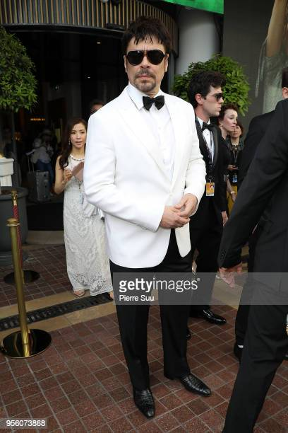 Actor Benicio Del Toro is seen at 'Le Majestic' hotel during the 71st annual Cannes Film Festival at on May 8 2018 in Cannes France