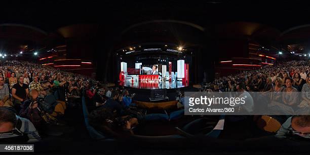 Actor Benicio del Toro receives the Donosti Lifetime Achievement Award at the Kursaal Palace during the 62nd San Sebastian International Film...